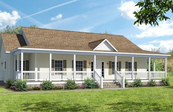 Ashton I Ranch Modular Home with covered porch and dormer
